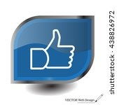 thumb up icon  vector... | Shutterstock .eps vector #438826972
