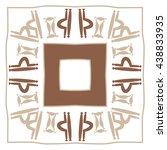 circular pattern of zodiac... | Shutterstock . vector #438833935