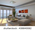 3d rendering of home interior | Shutterstock . vector #438840082