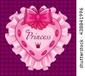 vector little princess pink card | Shutterstock .eps vector #438841996