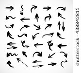 hand drawn arrows  vector set | Shutterstock .eps vector #438842815