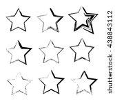 hand drawn shape of star.... | Shutterstock .eps vector #438843112