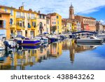 old town of martigues in the...   Shutterstock . vector #438843262