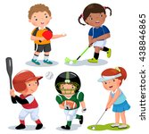 vector illustration of various... | Shutterstock .eps vector #438846865