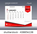 january desk calendar 2017... | Shutterstock .eps vector #438856138