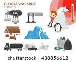 global warming. | Shutterstock .eps vector #438856612