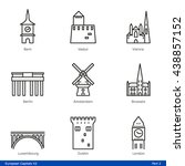 european capitals  part 2   ... | Shutterstock .eps vector #438857152