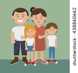 happy family design  vector... | Shutterstock .eps vector #438860662