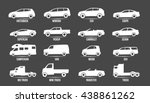 car model and type. objects... | Shutterstock .eps vector #438861262