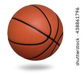 Small photo of Basketball ball on white background
