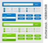 website form interface elements. | Shutterstock .eps vector #438864568