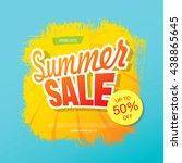 summer sale. vector template... | Shutterstock .eps vector #438865645