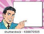 beautiful retro businessman... | Shutterstock .eps vector #438870505