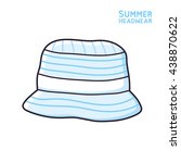 Blue Bucket Hat Isolated ...