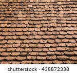 wood roof texture and background | Shutterstock . vector #438872338