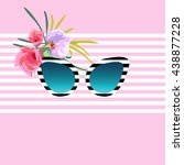 abstract draw of sunglasses ...   Shutterstock .eps vector #438877228