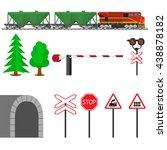 Railroad Traffic Way And Train...