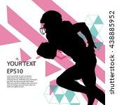 american football player... | Shutterstock .eps vector #438885952