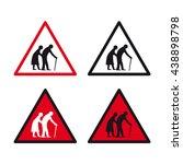 elderly traffic sign vector set | Shutterstock .eps vector #438898798