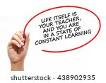 Man writing life itself is your ...