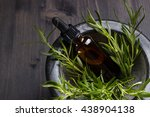 rosemary essential oil in a... | Shutterstock . vector #438904138