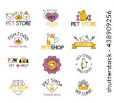 logo for pet shop or animal... | Shutterstock .eps vector #438909256