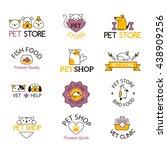 Stock vector logo for pet shop or animal clinic pet shop logo 438909256