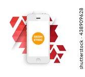 geometric vector background.... | Shutterstock .eps vector #438909628