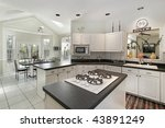kitchen with white cabinetry | Shutterstock . vector #43891249