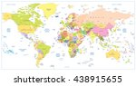 colored political world map... | Shutterstock .eps vector #438915655