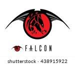 eagle. falcon.  unique design... | Shutterstock .eps vector #438915922