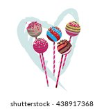pop cakes with heart | Shutterstock .eps vector #438917368