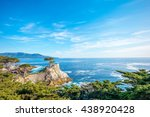 the lone cypress  seen from the ... | Shutterstock . vector #438920428