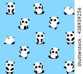Vector Pattern  Panda Bear...