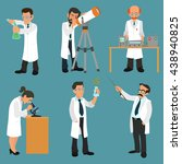 scientists characters set with... | Shutterstock .eps vector #438940825