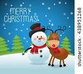 merry christmas concept with... | Shutterstock .eps vector #438951268