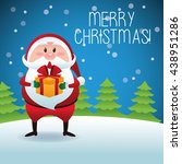 merry christmas concept with...   Shutterstock .eps vector #438951286