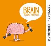 brain design. organ icon. flat... | Shutterstock .eps vector #438952282