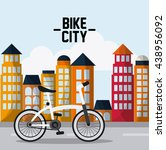 classic bicycle. bike and city... | Shutterstock .eps vector #438956092