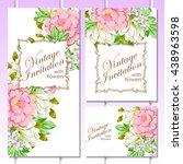 romantic invitation. wedding ... | Shutterstock . vector #438963598
