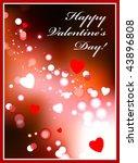 valentine's day card original... | Shutterstock .eps vector #43896808
