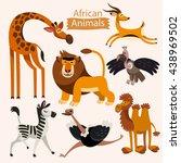 Vector Set Of Cartoon African...