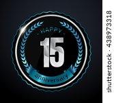 15 years silver anniversary...   Shutterstock .eps vector #438973318