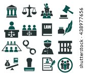 attorney  court  law icon set | Shutterstock .eps vector #438977656