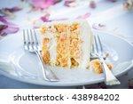A Slice Of A Wedding Cake On...