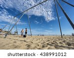 santa monica  usa   june 18 ... | Shutterstock . vector #438991012