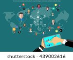 vector businessman... | Shutterstock .eps vector #439002616