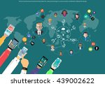 vector businessman... | Shutterstock .eps vector #439002622