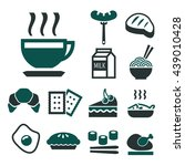 breakfast icon set | Shutterstock .eps vector #439010428