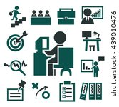 business office icons set | Shutterstock .eps vector #439010476